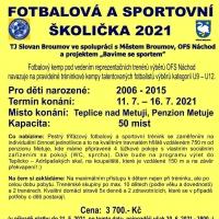 Fotbalová a sportovní školička 2021